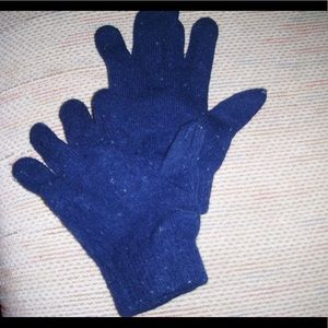 Navy blue Stretch mittens
