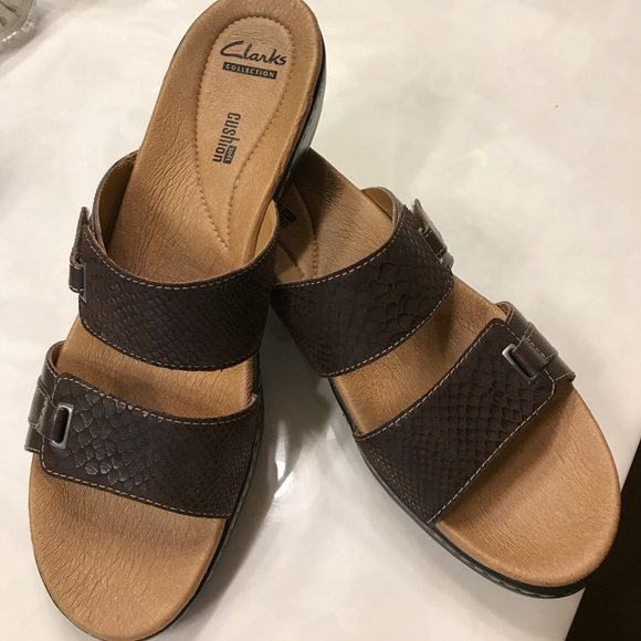 acdb8442765 Clarks Shoes - Clarks Hayla Andi Soft Cushion Sandal 11M Brown