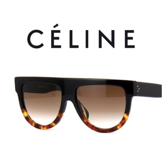 8a3bab7ff3c3 Celine Shadow Sunglasses Black Tortoise CL41026S
