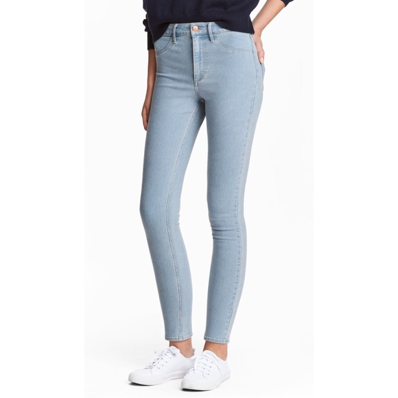 8eaff0027 H&M Jeans | H M Skinny High Ankle Light Denim Blue | Poshmark