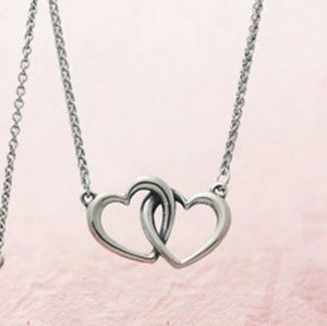 James Avery Jewelry - James Avery Double Heart Linked Necklace