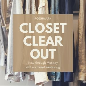 Closet clear out is back!