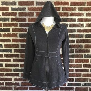 Lucy Tops - Adorable Charcoal Gray Lucy Zip Hoodie