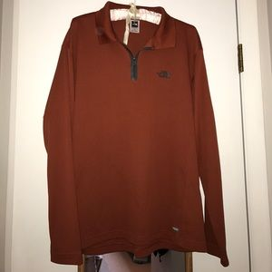 Rust Colored Men's North Face Quarter-Zip