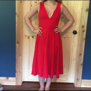Red date night dress