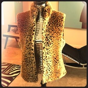 Reversible faux fur vest, funky cool and warm.