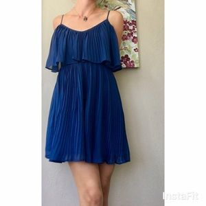 Central Park West Dresses & Skirts - Fun and flirty royal blue pleated dress