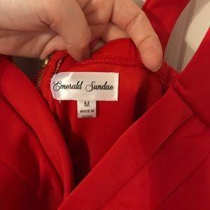 BCBGMaxAzria Dresses - Scuba red body con maxi