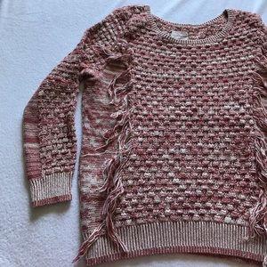 Melrose & Market fringe sweater.