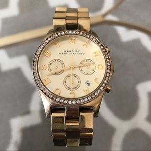 "Marc by Marc Jacobs ""Henry"" Gold Watch"