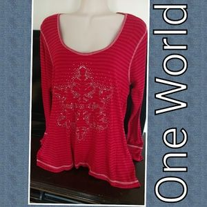 ONE WORLD Tops - One world sz 2x top