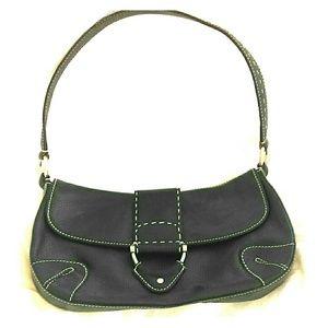 Kate Landry Handbags - Kate Landry black pewter white stitching bag