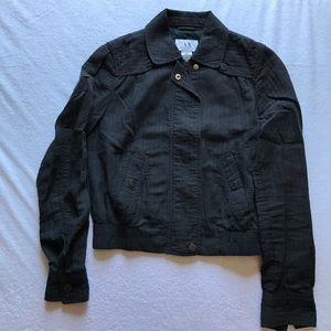 Armani Exchange black cropped lightweight jacket