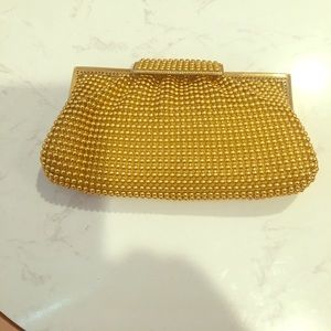 la regale  Handbags - Gold color beaded purse