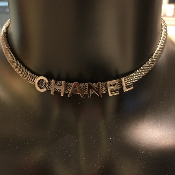 New Fall Winter 17-18 CHANEL silver chain choker 2034e82ff18