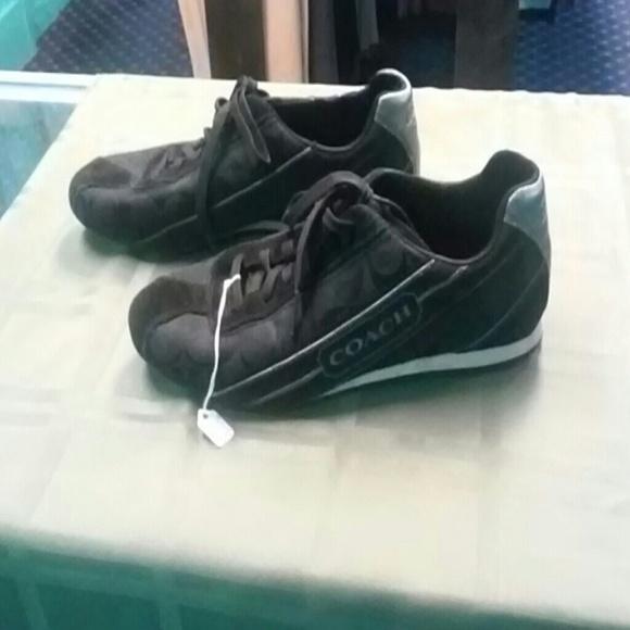 coach coach black canvas signature cs shoes size 8 5