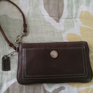 Coach Brown Vintage Wristlet