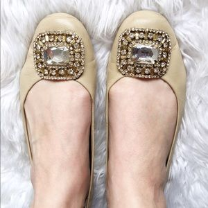 Adrienne Vittadini Jeweled Flats