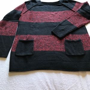 Sweaters - GAP front pocket thick stripe sweater.