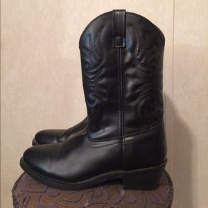Laredo Other - $25 men's Laredo leather cowboy boots black EUC
