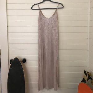 Dresses & Skirts - Paper Crane gold body con midi dress
