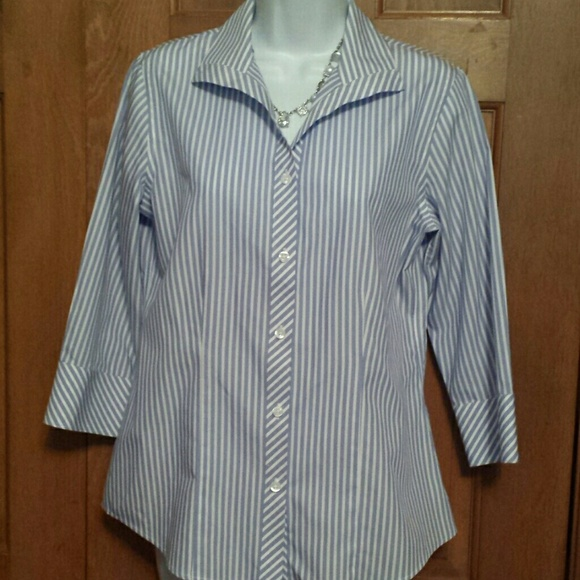 78 off chico 39 s tops chico 39 s no iron shirt size 4 from