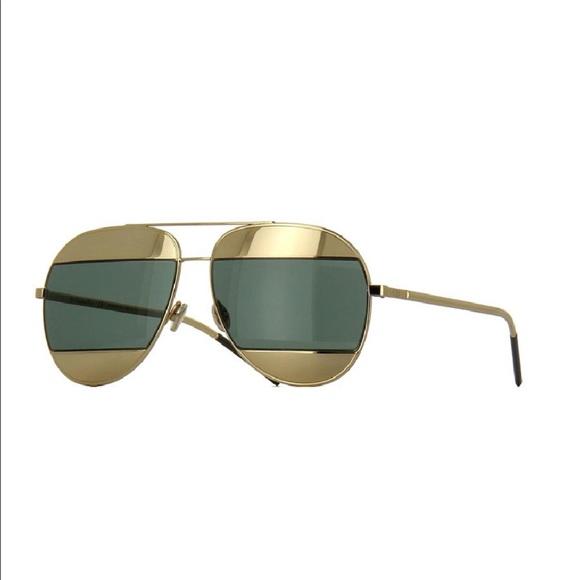 e1e03492ea83 Christian Dior Accessories - Dior split 1 gold black mirrored combo 😎