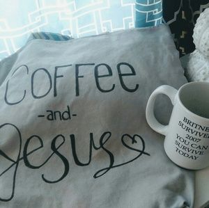 "Handmade Handbags - ""Coffee and Jesus"" Reversible Tote Bag"