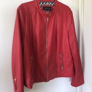 Black Rivet Jackets & Blazers - BRAND NEW Red Leather jacket