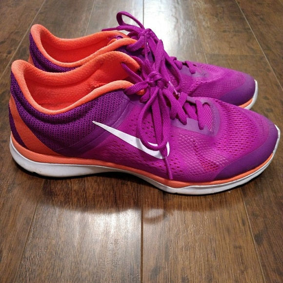 Nike Purple Shoes Oraange Soles
