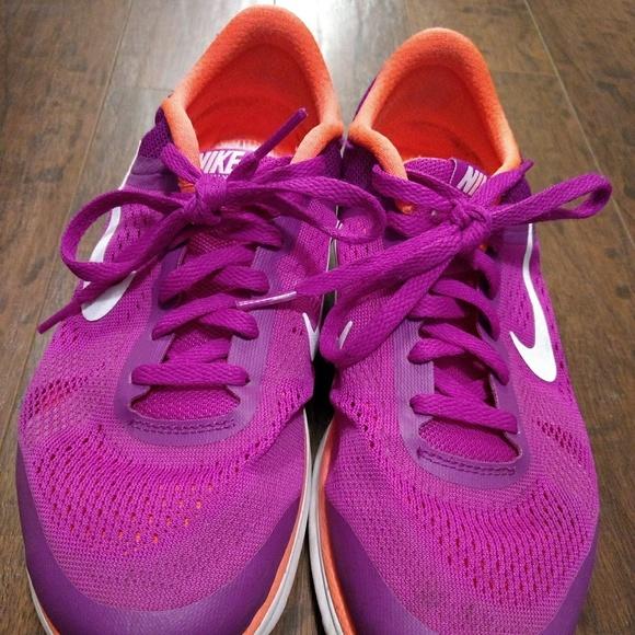 Nike Purple Shoes Orange Soles