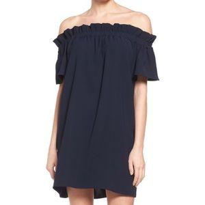 Off the shoulder pleione dress