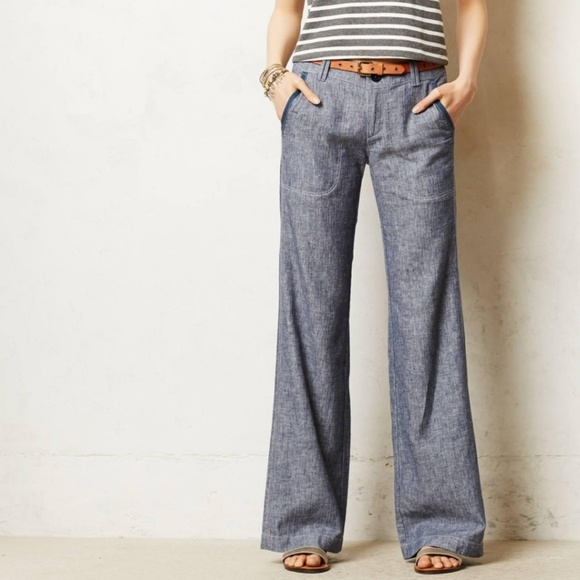 33 Off The Limited Pants Wide Leg Cassidy Fit Chambray