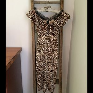 Stop Staring Dresses & Skirts - Stop Staring! Leopard Print Wiggle Dress