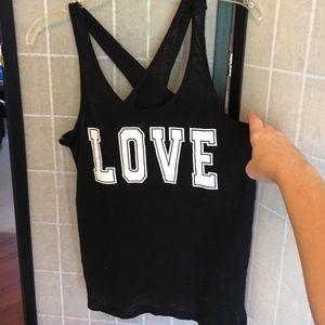 Tops - Love Tank Top Crosses in Back Juniors