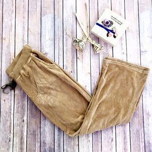 MICHAEL Michael Kors Pants - Michael Kors Camel Velour Track Pants