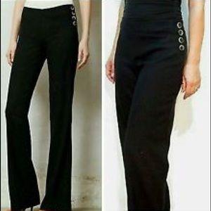Anthropologie Pants - Elevenses side button wide leg pants