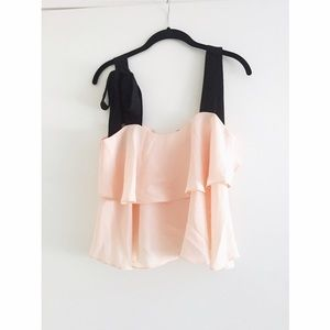 Endless Rose Tops - Blush and black blouse