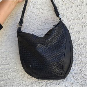 Black leather bag. Excellent condition.