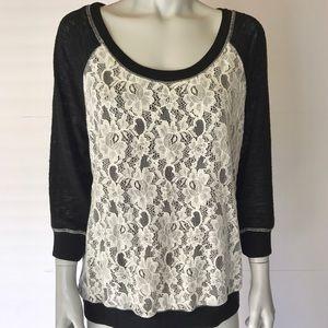 Olivia Moon Tops - {olivia moon} black and white long sleeve top