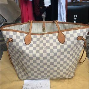 Louis Vuitton Handbags - Auth LV Damier Azur Neverfull MM💞