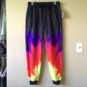 Neff Pants - New Ombré Rainbow Tie Dye Jogger Sweatpants