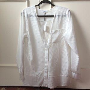 White Calvin Klein blouse
