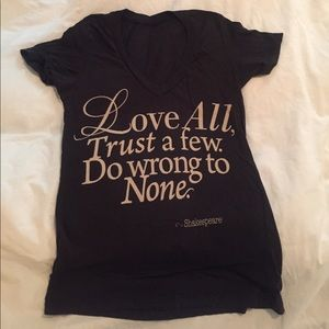 Shakespeare t-shirt! Size S!