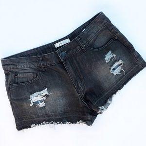 Adam Levine Collection Pants - Adam Lavigne black jean short
