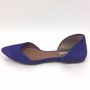 H&M Suede D'orsay Flats in Cobalt 37