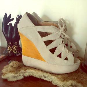 Jeffrey Campbell platform wedge 70s heels