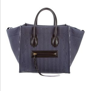 Celine Handbags - Celine Canvas Phantom Luggage Navy & White Stripes