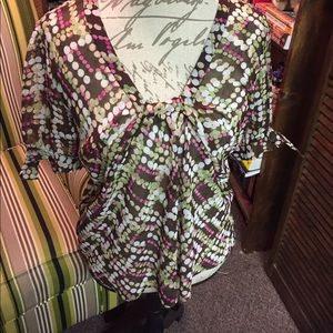 Bob Mackie Tops - Mackie and Co polka dotted top Size 14