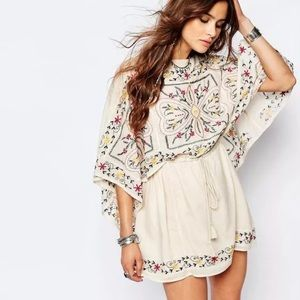 Free People Frida Sheer Batiste Embroidered Tunic